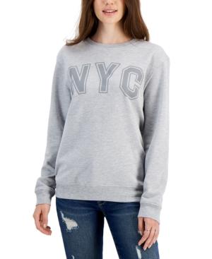 Juniors' Nyc-Print Sweatshirt