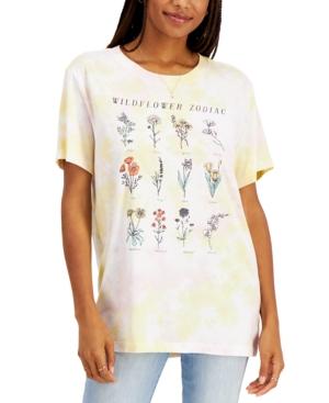 Juniors' Wildflower Zodiac T-Shirt