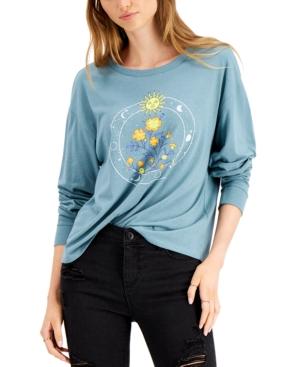 Juniors' Celestial-Print T-Shirt