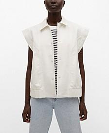 Women's Oversized Denim Vest