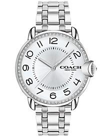Women's Arden Silver-Tone Stainless Steel Bracelet Watch, 36mm