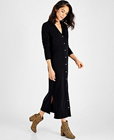 Button-Down Cashmere Sweater Dress, Created for Macy's