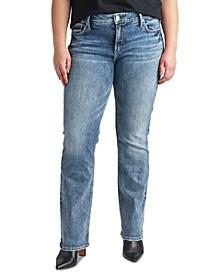 Plus Size Elyse Mid-Rise Slim-Fit Bootcut Jean
