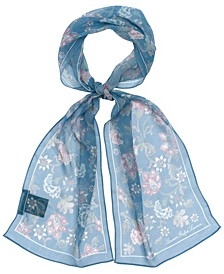 Women's Adelaide Floral Small Oblong Scarf