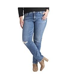 Plus Size Elyse Mid Rise Straight Leg Jeans