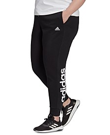 Plus Size Tapered Logo Pants