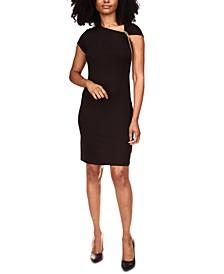Chain-Shoulder Asymmetrical Dress
