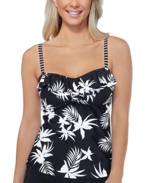 Hawaii Gardens Printed Tankini Top