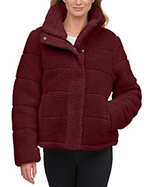 Cropped Faux-Fur Teddy Coat