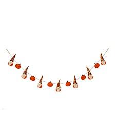 6' L Fall Fabric Gnomes Garland