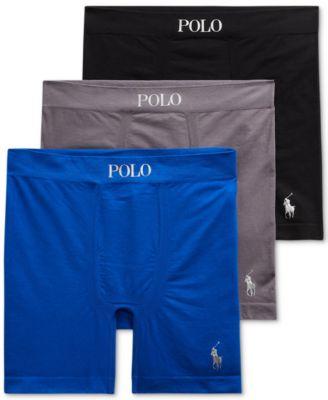 폴로 랄프로렌 Polo Ralph Lauren Mens 3-Pack Seamless Boxer Briefs