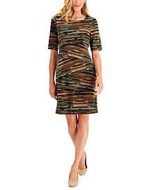 Petite Printed Tiered Sheath Dress