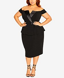 Plus Size Chic Tuxe Dress