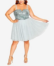Plus Size Sparkle Tulle Dress