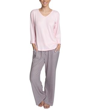 Butter-Knit Open-Leg Pajama Set