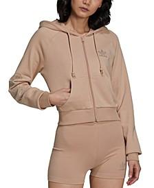 Women's Embellished Zip-Front Hoodie