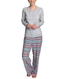 Butter-Knit Henley Top Pajama Set
