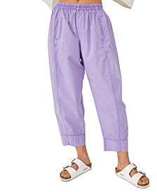 Preppy Cotton Pull-On Pants