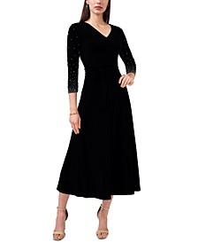 Petite Embellished Midi Dress
