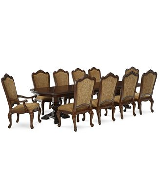 lakewood 11-piece dining room furniture set (double pedestal