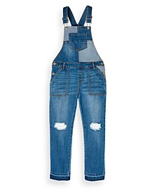 Big Girls Patch Denim Overall, Created for Macy's