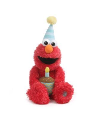 Closeout! Gund Sesame Street Animated Happy Birthday Elmo Singling and Dancing Plush