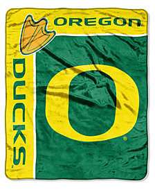 Northwest Company Oregon Ducks Plush Team Spirit Throw Blanket