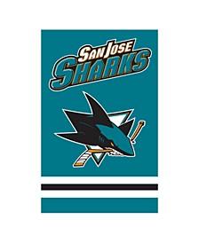 San Jose Sharks Applique House Flag