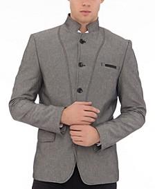 Men's Modern Symmetric Button Closure Sport Coat