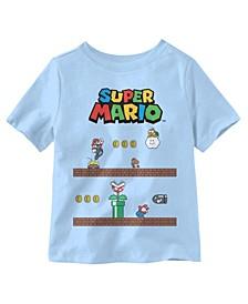 Toddler Boys Super Mario Game Play Short Sleeve T-shirt