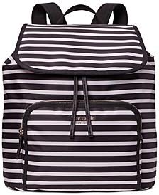 Sam The Little Better Watch Hill Stripe Medium Flap Backpack