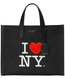 Manhattan I Heart NY Large Tote