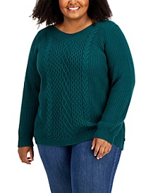 Plus Size Solid Cate Sweater