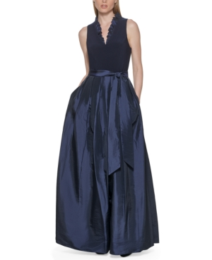 V-Neck Bow Gown