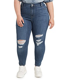 Trendy Plus Size 721 High-Rise Ripped Skinny Jeans