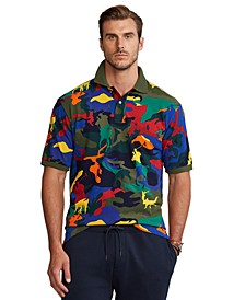 Men's Big & Tall Polo Pony Camo Mesh Polo Shirt