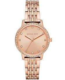 Women's Melissa Rose Gold-Tone Stainless Steel Bracelet Watch 35mm