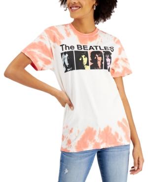 Juniors' The Beatles Cotton Tie-Dyed T-Shirt