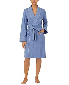 Quilted Cotton Wrap Robe