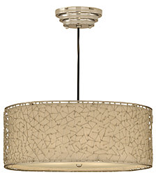Uttermost Brandon Silver 3-Light Ceiling Light