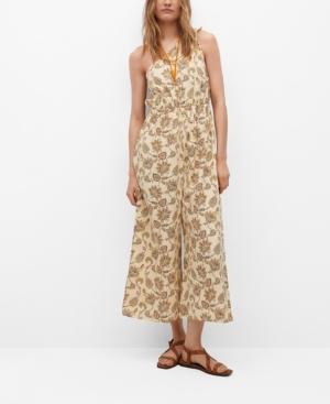 Women's Cotton Print Jumpsuit