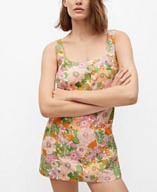 Women's Floral Print Jumpsuit