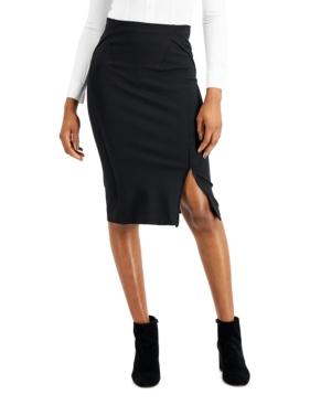 Sculpted Slit Pencil Skirt