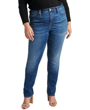 Plus Size Ruby Mid Rise Straight Leg Jeans