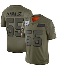Youth Boys and Girls Leighton Vander Esch Olive Dallas Cowboys 2019 Salute to Service Game Jersey