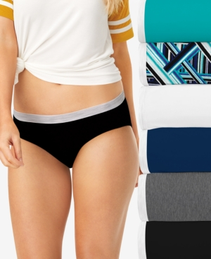 Women's 6-Pk. Sporty Hipster Underwear With Cool Comfort PP41SF