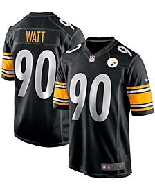 Men's T.J. Watt Black Pittsburgh Steelers Game Team Jersey