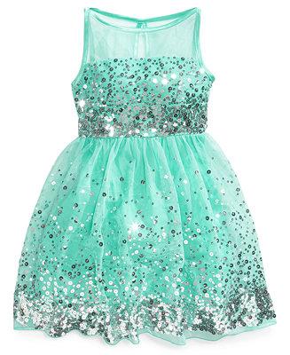 Crystal Doll Sequin Illusion Dress Big Girls 7 16
