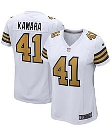 Women's Alvin Kamara White New Orleans Saints Alternate Game Player Jersey
