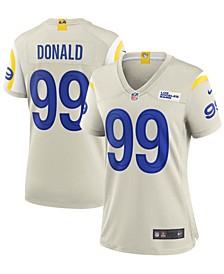 Women's Aaron Donald Cream Bone Los Angeles Rams Game Jersey